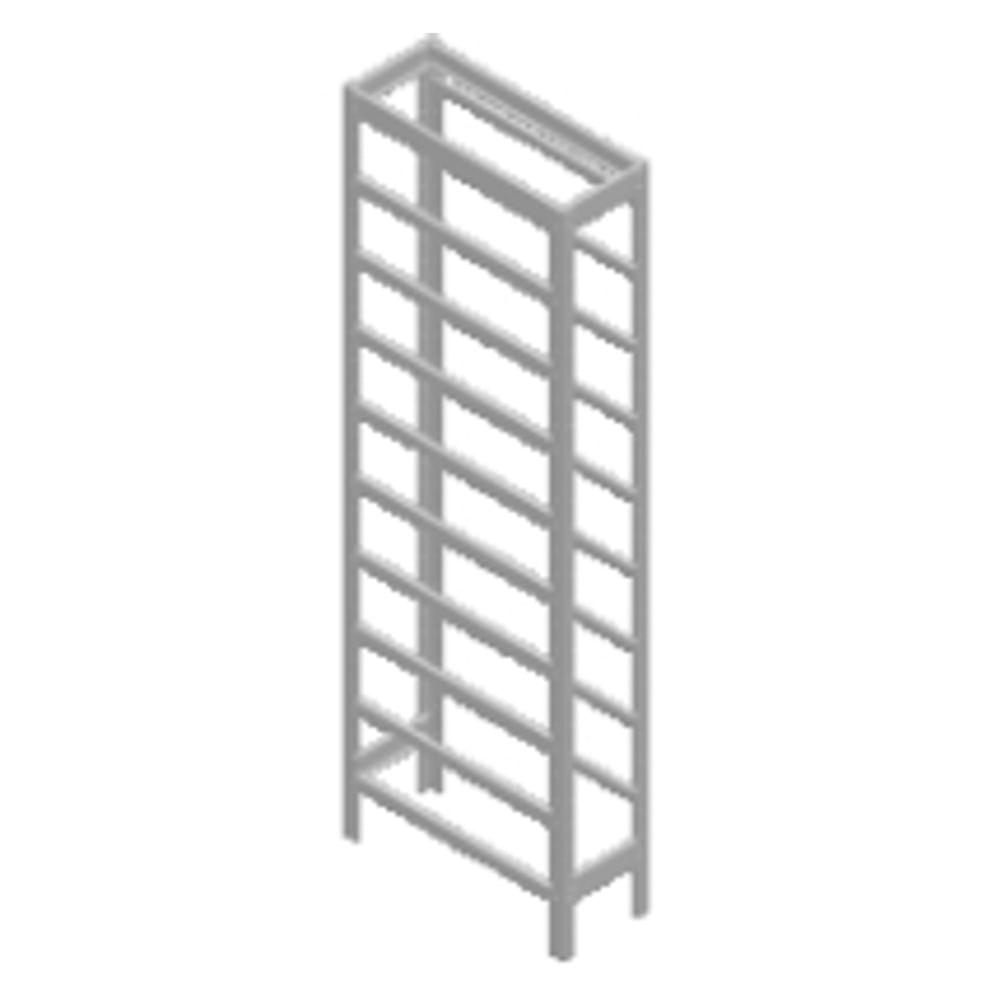 Estrutura para Estante Porta - Componentes Montada com Solda Ponto para 27 Caixas Nº 5 Marcon EP27 / 5